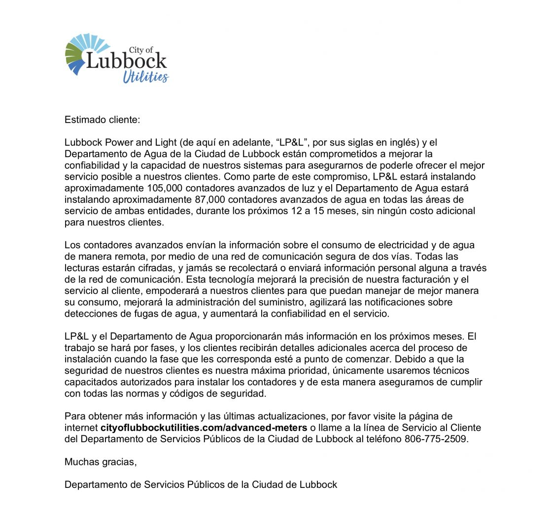Oct. 2018 Customer Insert (Spanish)